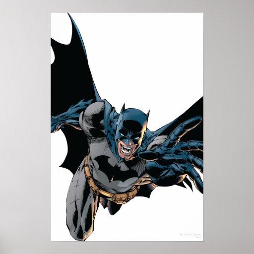 Batman sautant en avant, hurlement posters