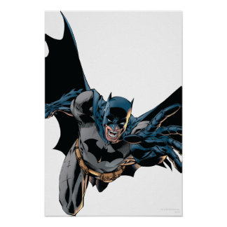 Batman sautant en avant, hurlement poster