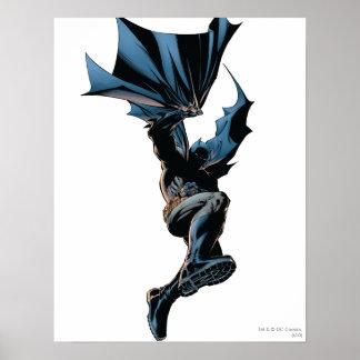 Batman sautant en bas du tir d'action poster