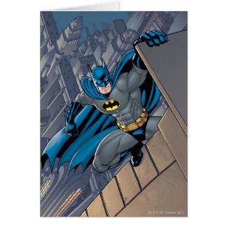 Batman Scenes - Hanging From Ledge Card