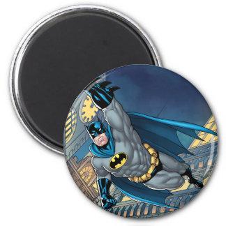 Batman Scenes - Soaring 2 Inch Round Magnet