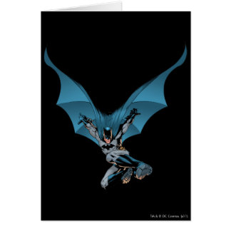 Batman skips in card