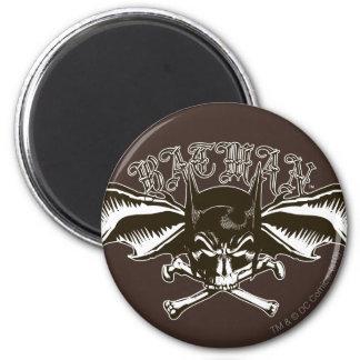Batman Skull Cowl Batwings Logo 2 Inch Round Magnet