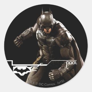 Batman Standing With Cape Round Sticker