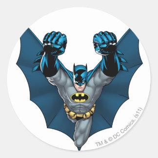 Batman Stands Classic Round Sticker