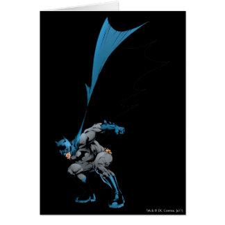 Batman stomps boots card
