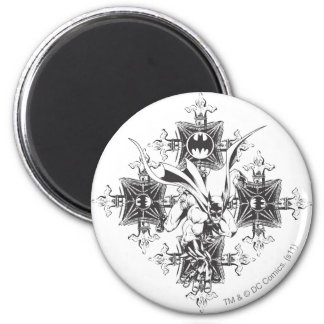 Batman Street Design 2 Inch Round Magnet