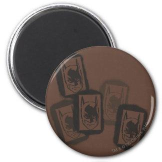 Batman Street Heroes - 4 - Batman Brown Stamps 2 Inch Round Magnet