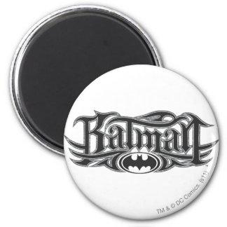 Batman | Stylized Logo 2 Inch Round Magnet