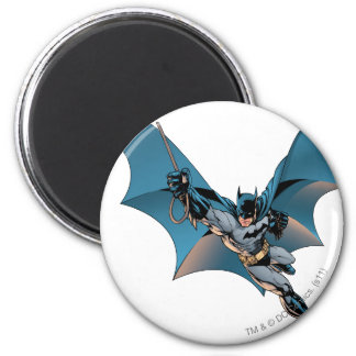 Batman swing  into action 2 inch round magnet