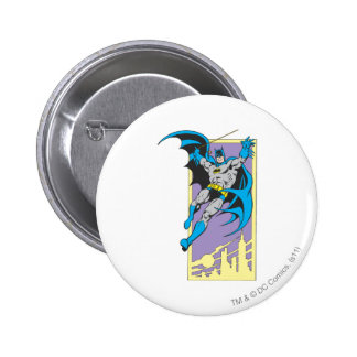 Batman Swings From Skyscraper 2 Inch Round Button