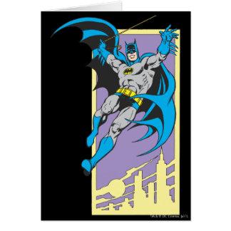 Batman Swings From Skyscraper Card