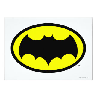 "Batman Symbol 5"" X 7"" Invitation Card"