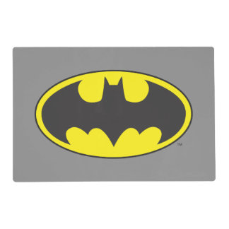 Batman Symbol | Bat Oval Logo Laminated Place Mat