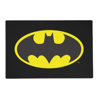 Batman Symbol | Bat Oval Logo Laminated Placemat