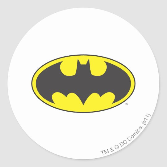 Batman Symbol | Bat Oval Logo Round Sticker