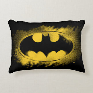 Batman Symbol | Black and Yellow Logo Accent Pillow
