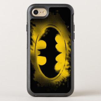 Batman Symbol   Black and Yellow Logo OtterBox Symmetry iPhone 8/7 Case