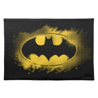 Batman Symbol | Black and Yellow Logo Placemats