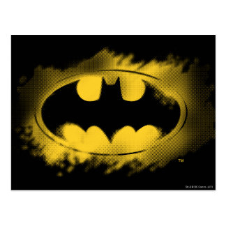 Batman Symbol | Black and Yellow Logo Postcard