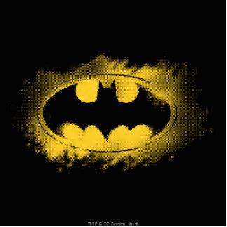 Batman Symbol | Black and Yellow Logo Standing Photo Sculpture