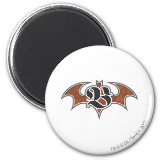 Batman Symbol | Brown Logo 2 Inch Round Magnet