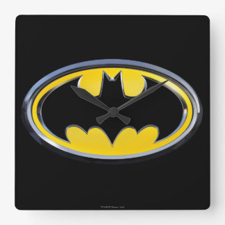 Batman Symbol | Classic Logo Square Wall Clock