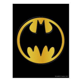 Batman Symbol | Classic Round Logo Postcard