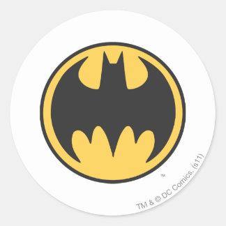 Batman Symbol | Dark Yellow Circle Logo Classic Round Sticker