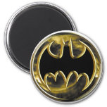 Batman Symbol | Gold Logo 2 Inch Round Magnet