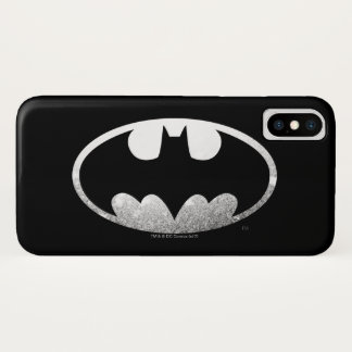 Batman Symbol | Grainy Logo iPhone X Case