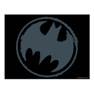 Batman Symbol | Gray Grunge Logo Postcard