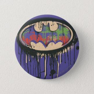 Batman Symbol   Green Purple Red Logo 2 Inch Round Button
