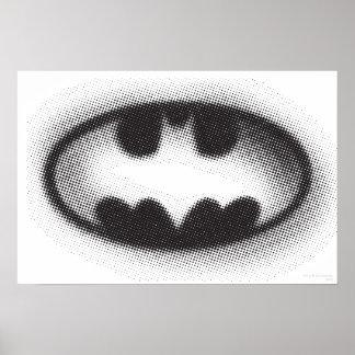 Batman Symbol | Halftone Logo Poster