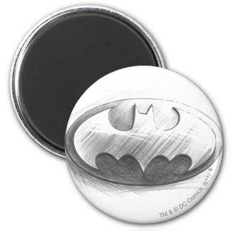 Batman Symbol | Insignia Drawing Logo 2 Inch Round Magnet