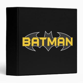Batman Symbol | Name Yellow & Black Logo Binder
