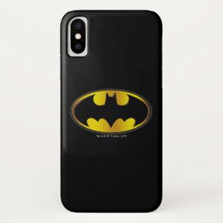 Batman Symbol   Oval Gradient Logo iPhone X Case