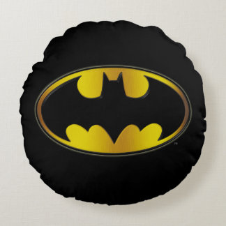 Batman Symbol | Oval Gradient Logo Round Pillow