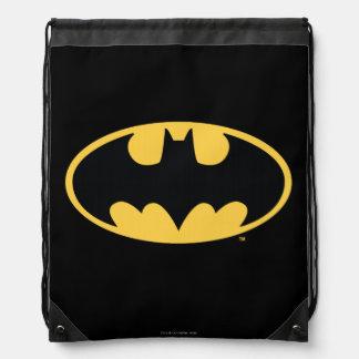 Batman Symbol | Oval Logo Drawstring Bags