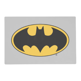 Batman Symbol | Oval Logo Laminated Placemat