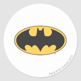 Batman Symbol | Oval Logo Round Sticker