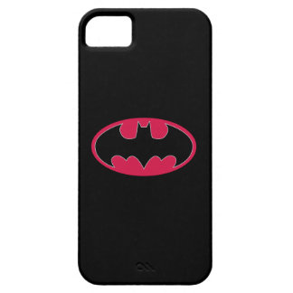 Batman Symbol | Red Black Logo iPhone 5 Cover