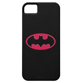 Batman Symbol | Red Black Logo iPhone 5 Covers