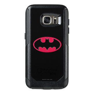 Batman Symbol   Red Black Logo OtterBox Samsung Galaxy S7 Case