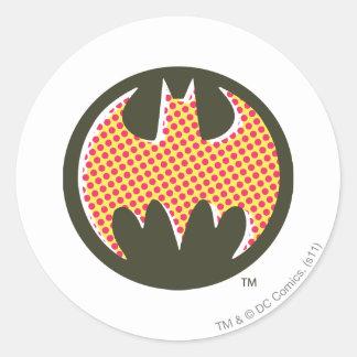 Batman Symbol | Red Halftone Logo Classic Round Sticker