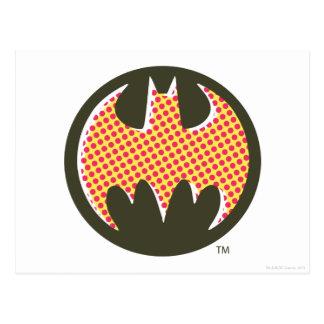 Batman Symbol | Red Halftone Logo Postcard