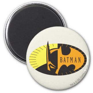 Batman Symbol | Silhouette Logo 2 Inch Round Magnet