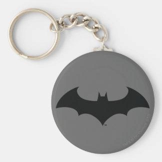 Batman Symbol | Simple Bat Silhouette Logo Basic Round Button Keychain