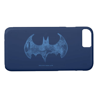 Batman Symbol | Sketchbook Light Blue Logo iPhone 8/7 Case
