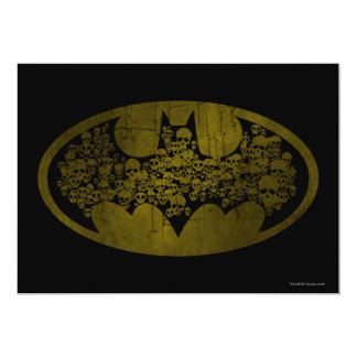 "Batman Symbol | Skulls in Bat Logo 5"" X 7"" Invitation Card"